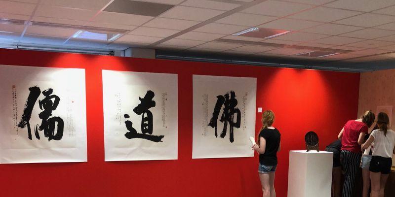 Brugklassers laten zich inspireren door Chinese kunst