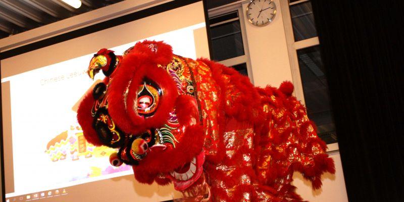 Feestelijke Chinese nieuwjaarsviering