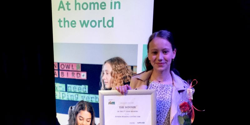 Mila Mabelis Nederlands Kampioen Speechen