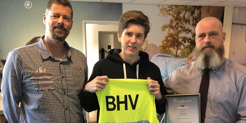Wim Roelofsen behaalt certificaat BHV