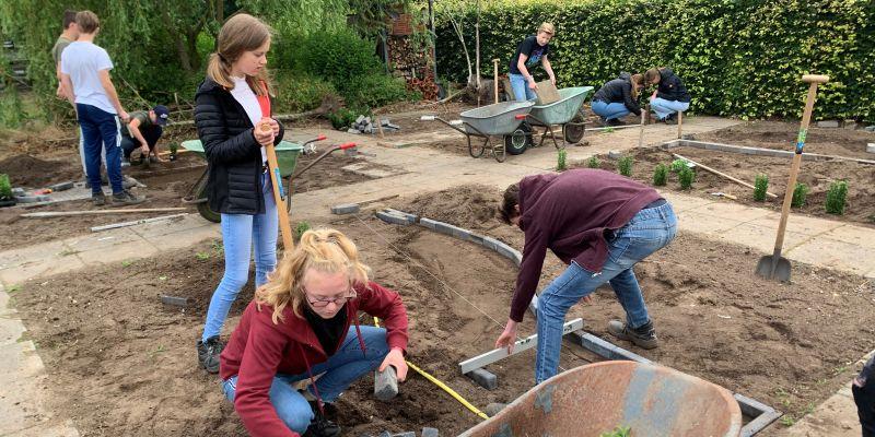 Leerlingen afdeling Groen ontwerpen tuinen