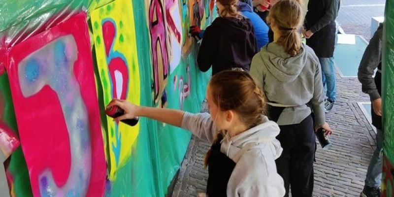 Throw UP, tag, verwondering en fantasie voor Kunstklas in Zwolle