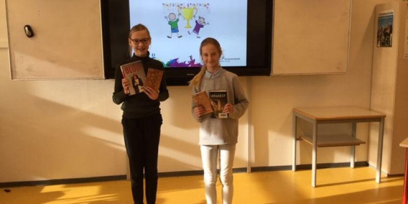 Emma en Chanika winnen voorleeswedstrijd