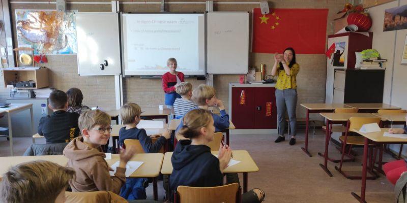 Leerlingen Leonardo Harderwijk volgen Chinese les