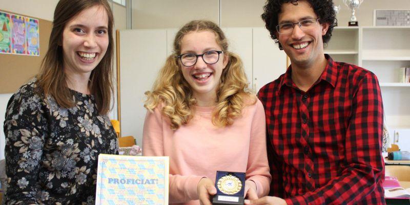 Damaris wint 1e prijs Kangoeroewedstrijd (wiskunde)