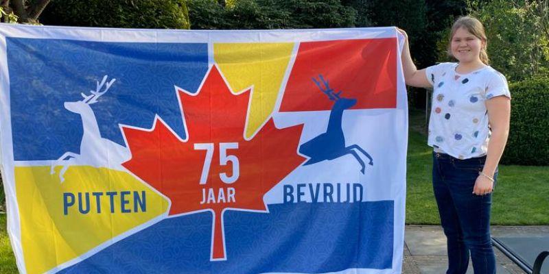 Putten 75 jaar bevrijd/ De vlag van de vrijheid wappert