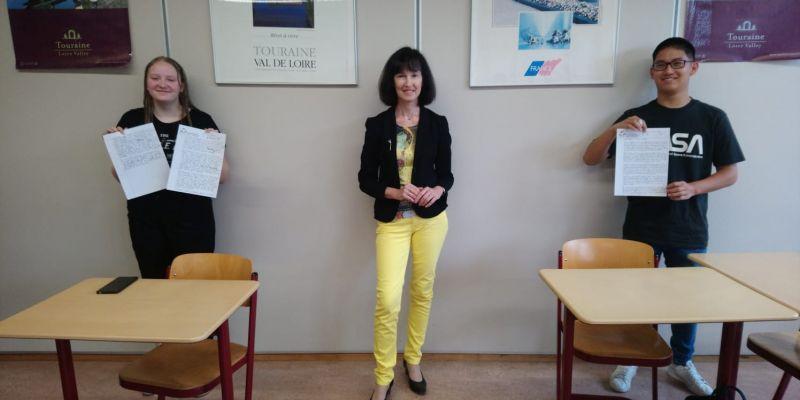 """Succes bij de Franse schrijfwedstrijd """"Visions d'Europe"""""""