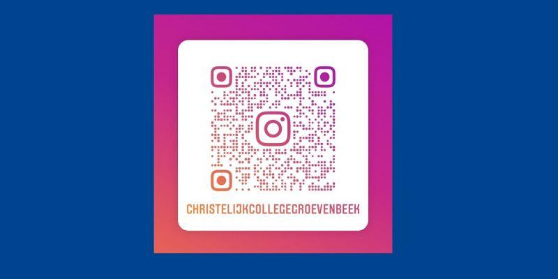 Volg de school op Instagram